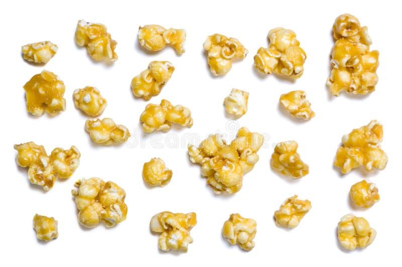 De popcorn van de karamel stock foto's