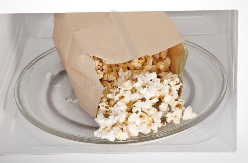 De Popcorn van de microgolf royalty-vrije stock afbeelding