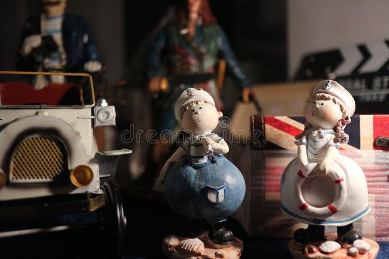 De poppen van de paarzeeman stock afbeeldingen