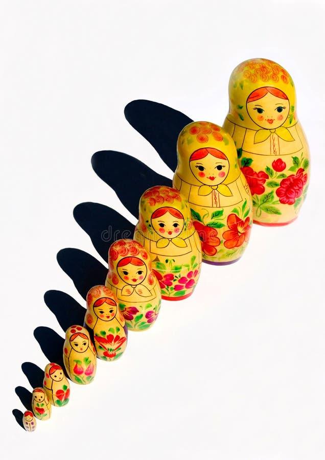 De poppen van Matryoshka stock afbeelding