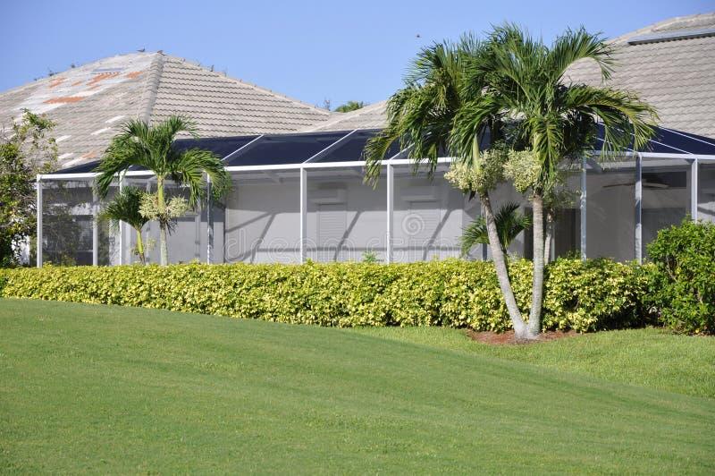 De portiek van het scherm voor huis in Napels, Florida royalty-vrije stock foto