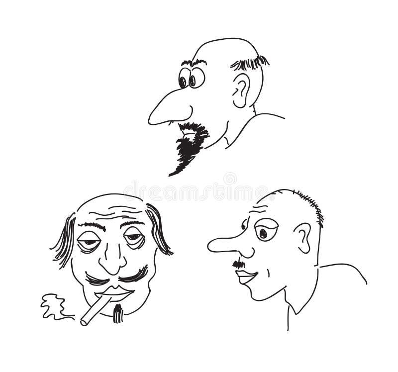 De portretten van de karikatuur vector illustratie