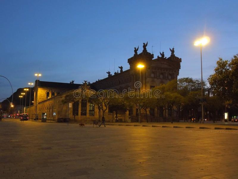De portuario Barcelona fotografía de archivo libre de regalías