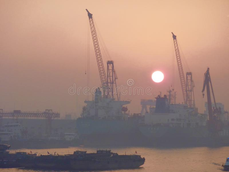de portuario Shangai fotos de archivo libres de regalías