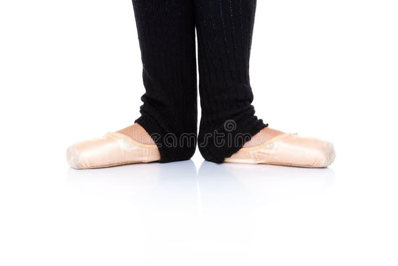 De positie van balletvoeten - en pointe royalty-vrije stock afbeeldingen