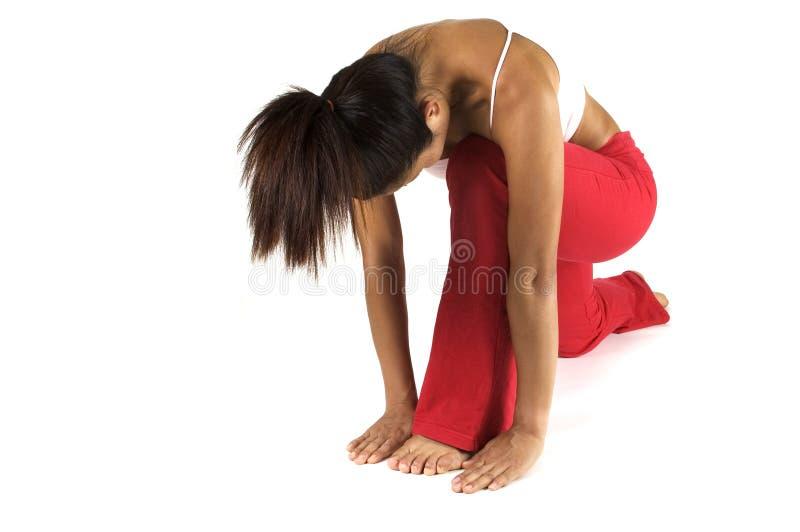 De Positie van de yoga stock fotografie