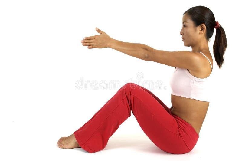De Positie Van De Yoga Stock Afbeelding