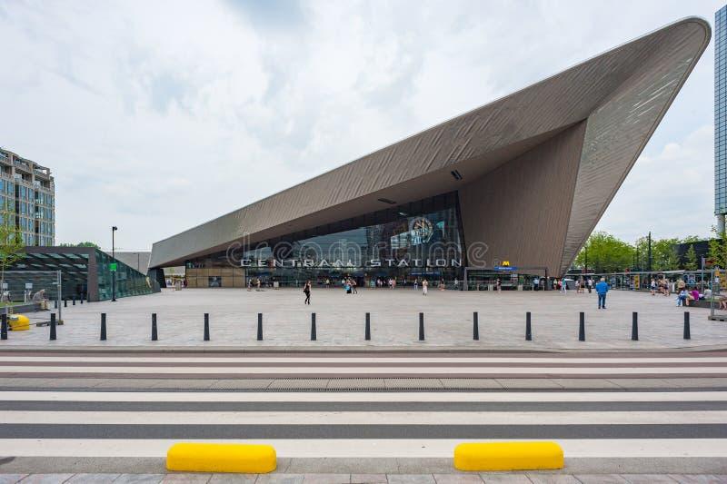 De de Post moderne bouw van Rotterdam Centraal royalty-vrije stock foto's