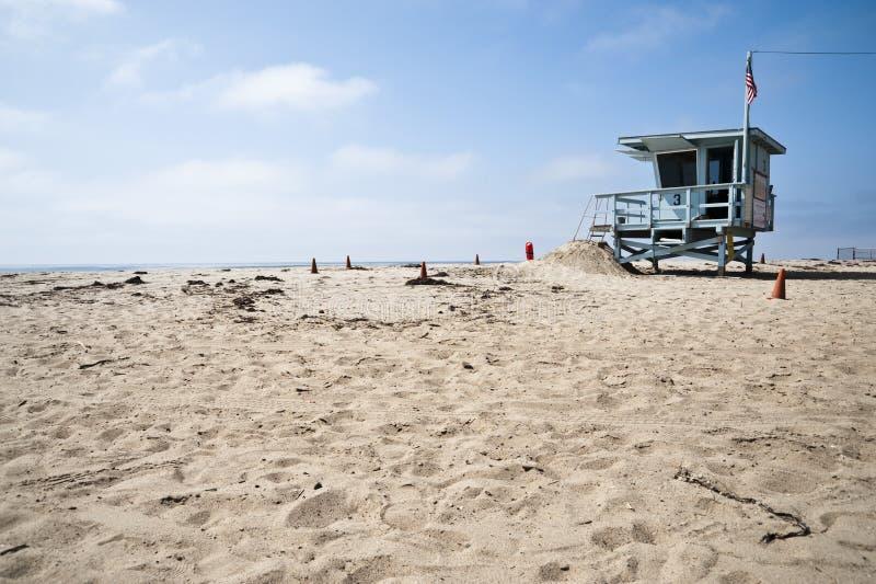 Download De Post Van De Badmeester In Het Strand Californië Van Venetië Stock Foto - Afbeelding bestaande uit californië, venetië: 29503256