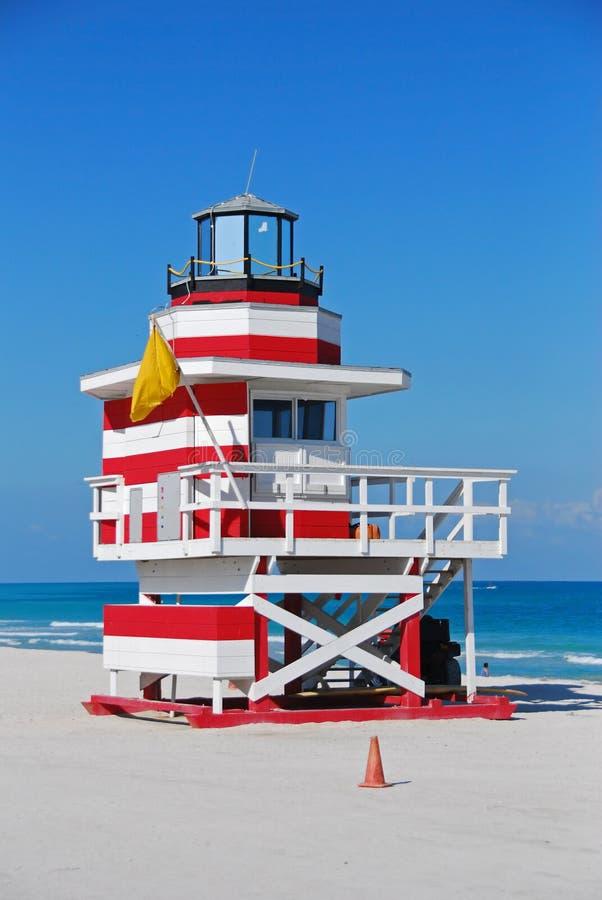 De post van de badmeester op het strand van Florida royalty-vrije stock fotografie