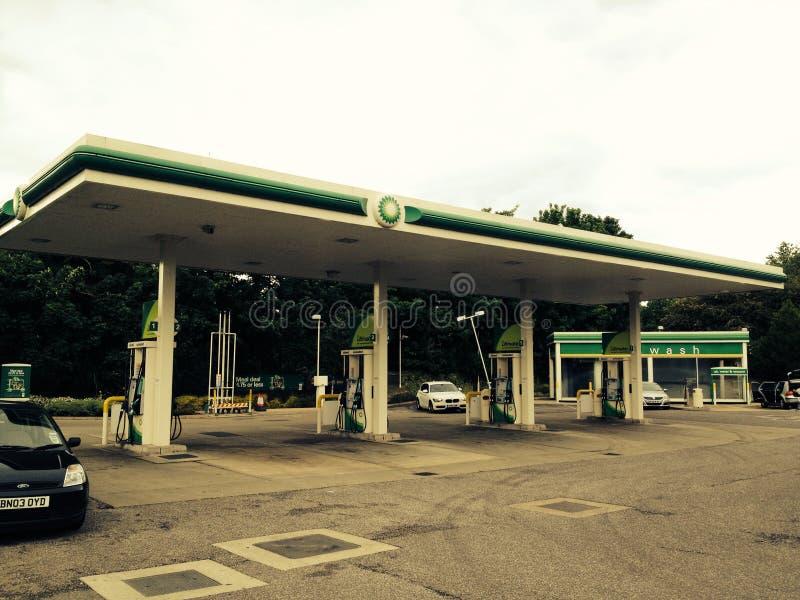 De post van de benzine stock fotografie