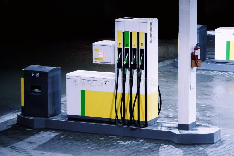 De post van de benzine stock afbeelding