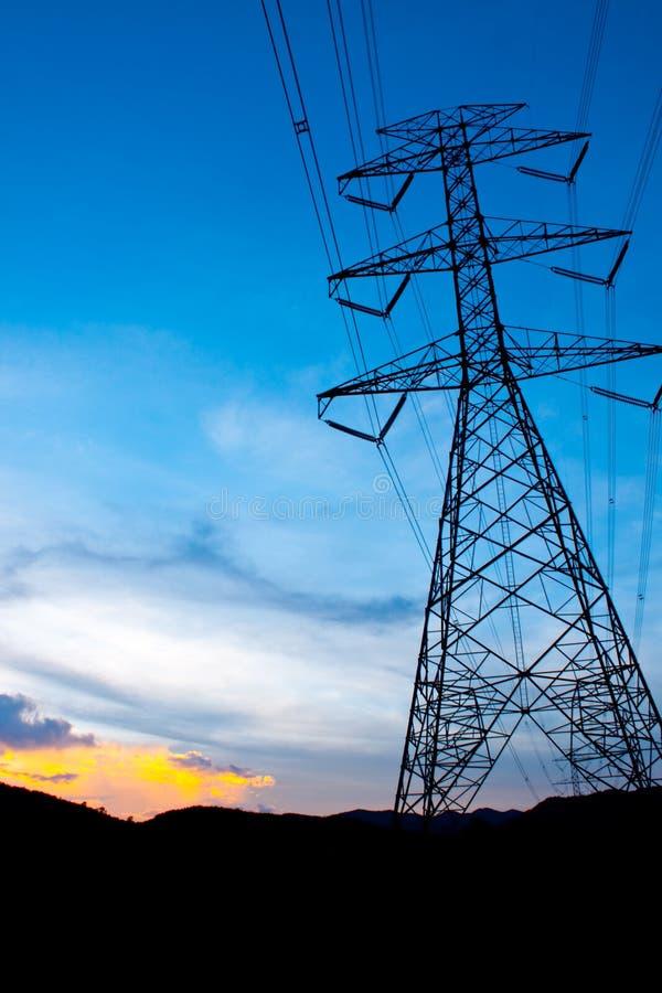 De post van de elektriciteit stock foto