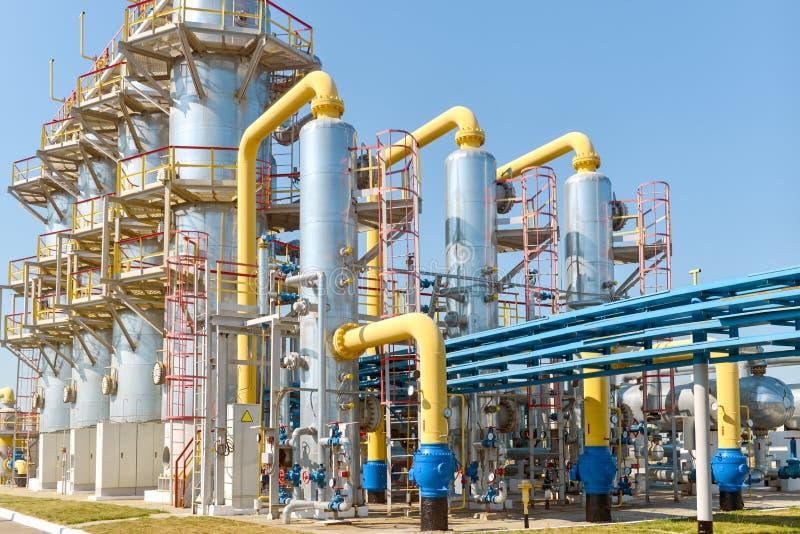 De post van de gascompressor royalty-vrije stock fotografie