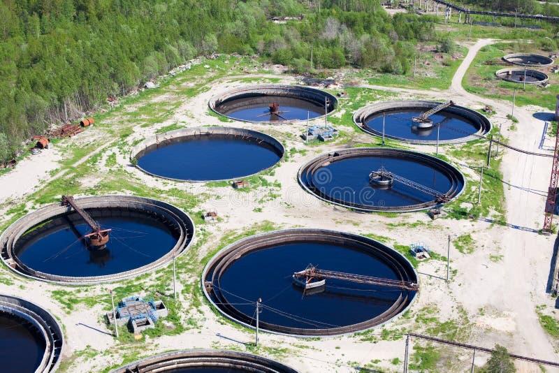 De post van de het recyclingsriolering van het water stock afbeelding