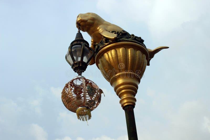 De post van de lamp royalty-vrije stock afbeelding