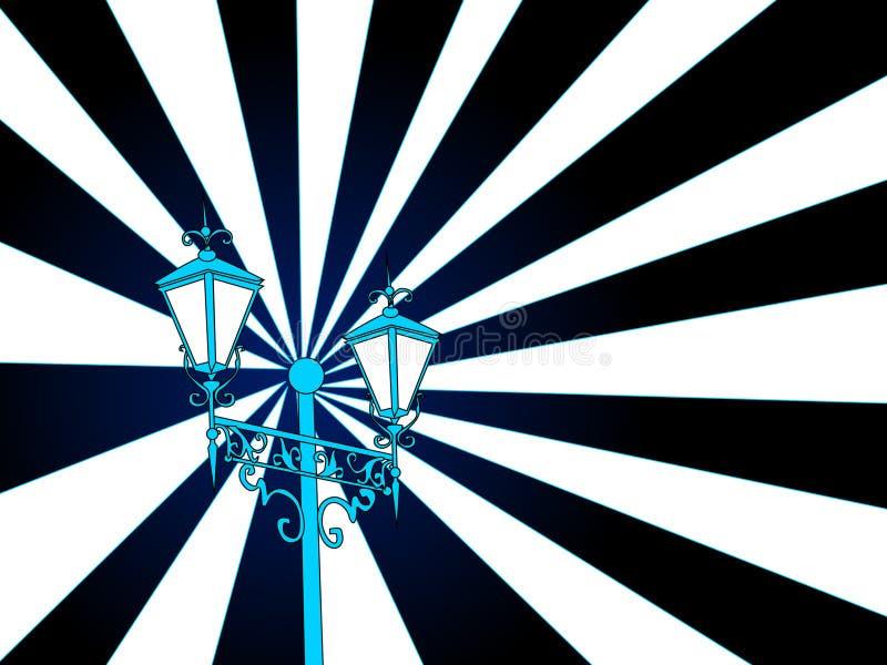 De post van de lamp   vector illustratie