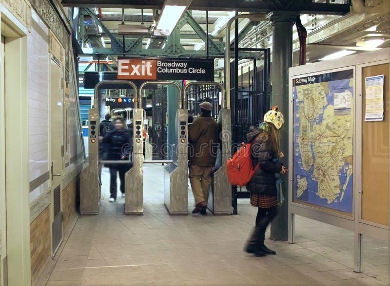 De Post van de Metro van de Cirkel van Columbus, de Stad van New York royalty-vrije stock foto