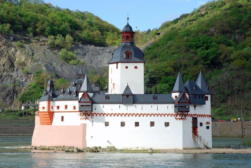 De Post van de Tol van Pfalzgrafenstein, Kaub, Duitsland royalty-vrije stock afbeeldingen