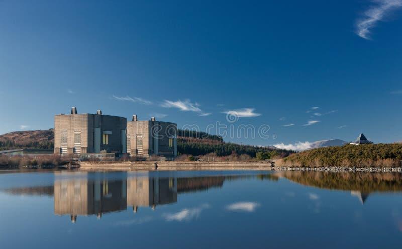 De post van de Trawsfynyddkernenergie stock afbeeldingen
