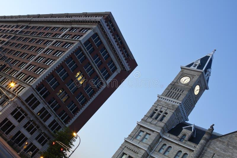 De Post van de Unie binnen de stad in van Louisville royalty-vrije stock afbeelding