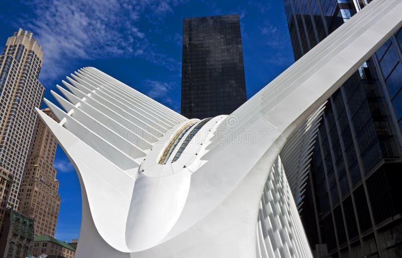 De post van de World Trade Centerweg, de Stad van New York royalty-vrije stock afbeelding