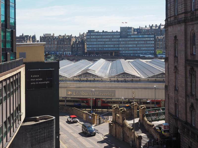 De post van Edinburgh Waverly in Edinburgh stock afbeeldingen