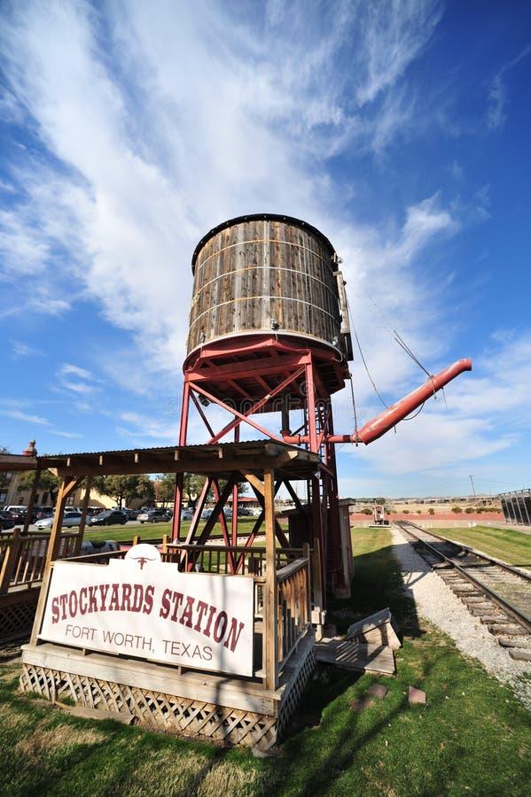 De Post van het Water van de spoorweg royalty-vrije stock foto's