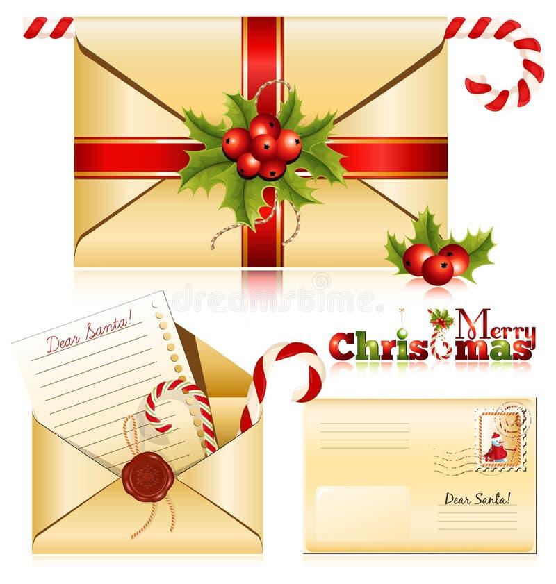 De post van Kerstmis royalty-vrije illustratie