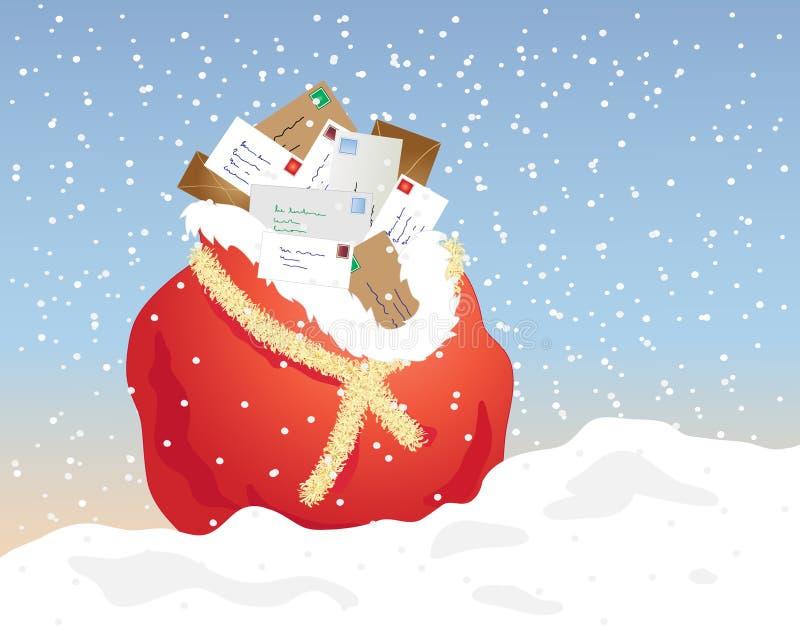 De post van Kerstmis vector illustratie