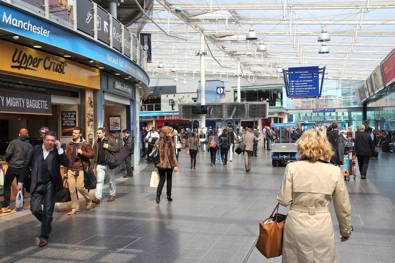 De post van Manchester Piccadilly stock foto