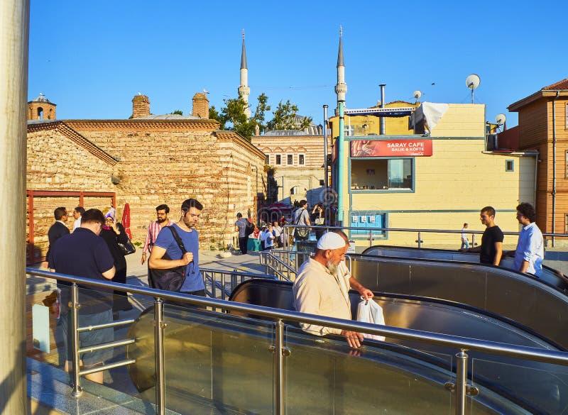 De Post van Marmarayuskudar Istanboel, Turkije royalty-vrije stock fotografie