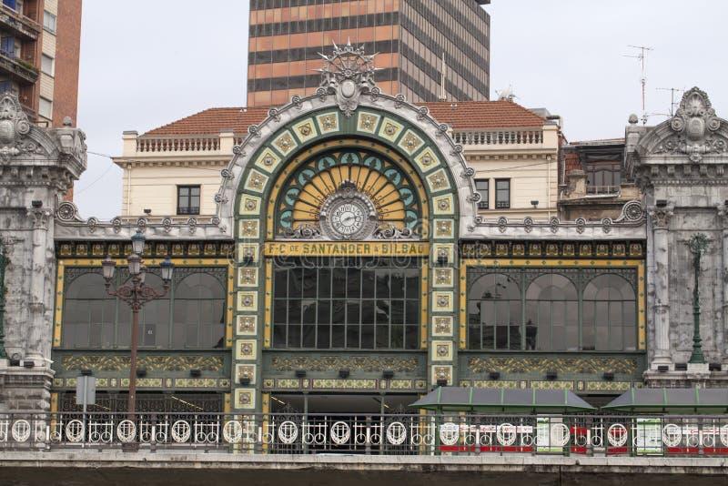 De post van Santander in Bilbao stock afbeelding