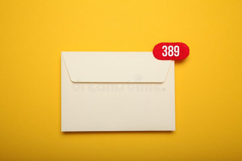 De Postbestellingsdienst Smspraatje, nieuwe e-mail Bedrijfs mededeling royalty-vrije stock foto's