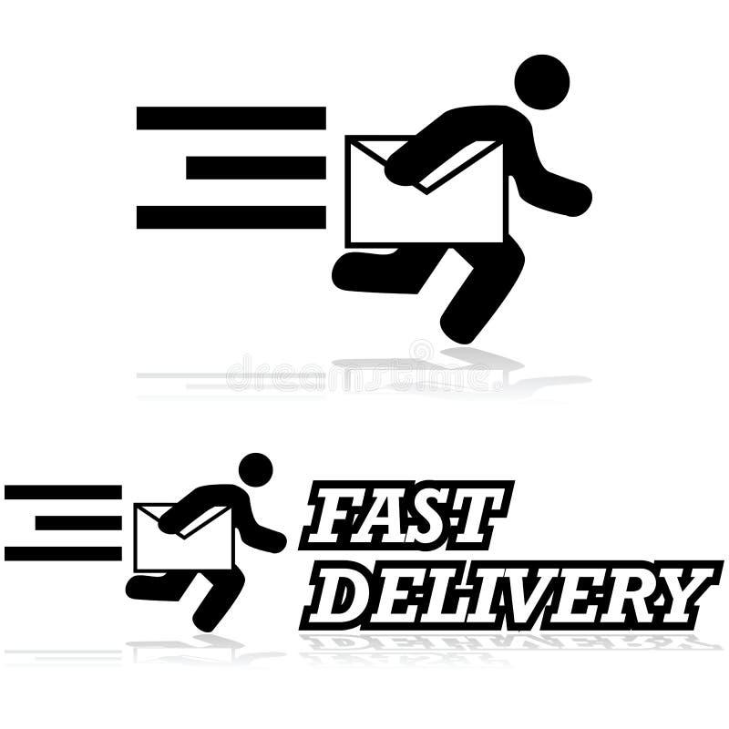 De postdienst Dit is dossier van EPS8 formaat stock illustratie