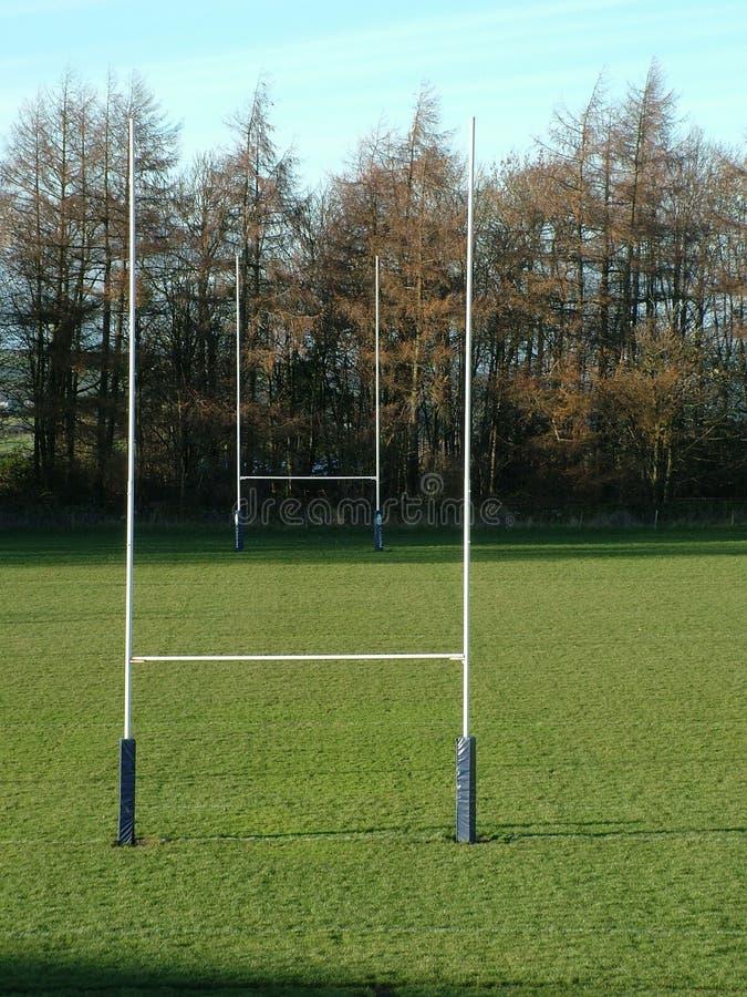 De posten van het rugby stock afbeeldingen