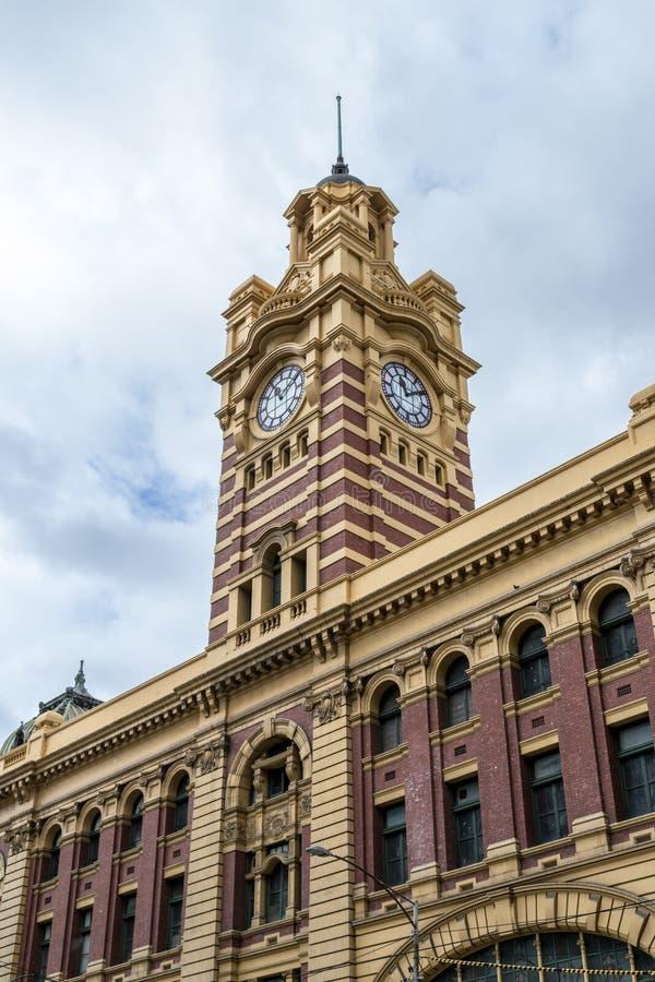 De postenklokketoren van de Flindersstraat stock foto