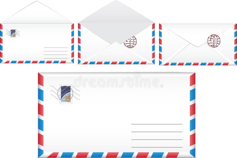De postenvelop van de illustratie. stock fotografie