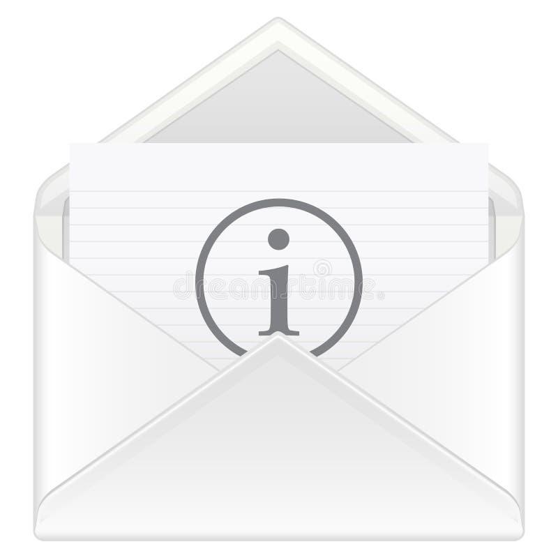 De postinformatie van de envelop vector illustratie