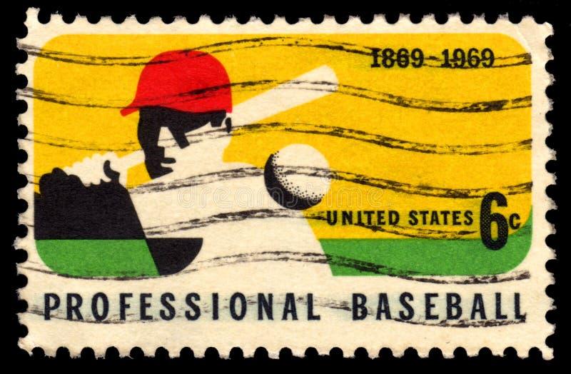 De postzegel professioneel honkbal van de V.S. stock afbeeldingen