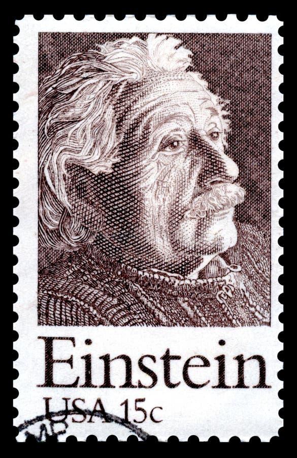 De postzegel van Albert Einstein de V.S.