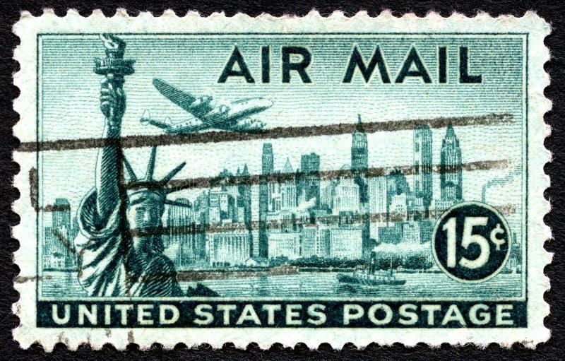 De Postzegel van de luchtpost stock foto