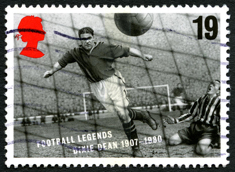 De Postzegel van Dixie Dean het UK stock foto's