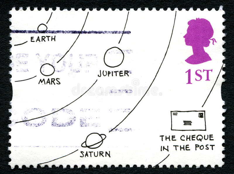 De Postzegel van Jack Ziegler Cartoon het UK royalty-vrije stock fotografie