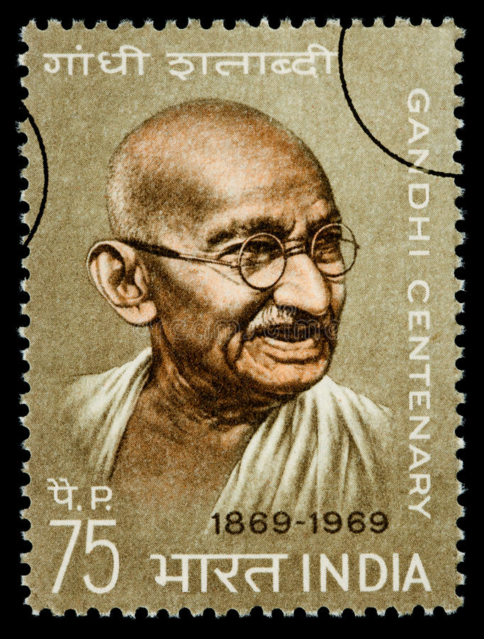 De Postzegel van Karamchand Gandhi van Mohandas royalty-vrije illustratie
