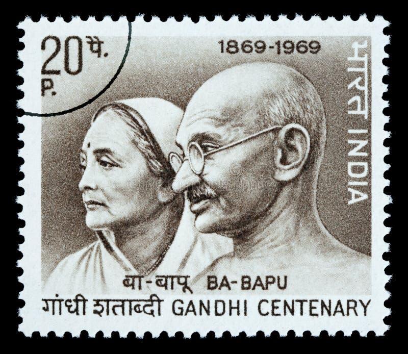 De Postzegel van Karamchand Gandhi van Mohandas