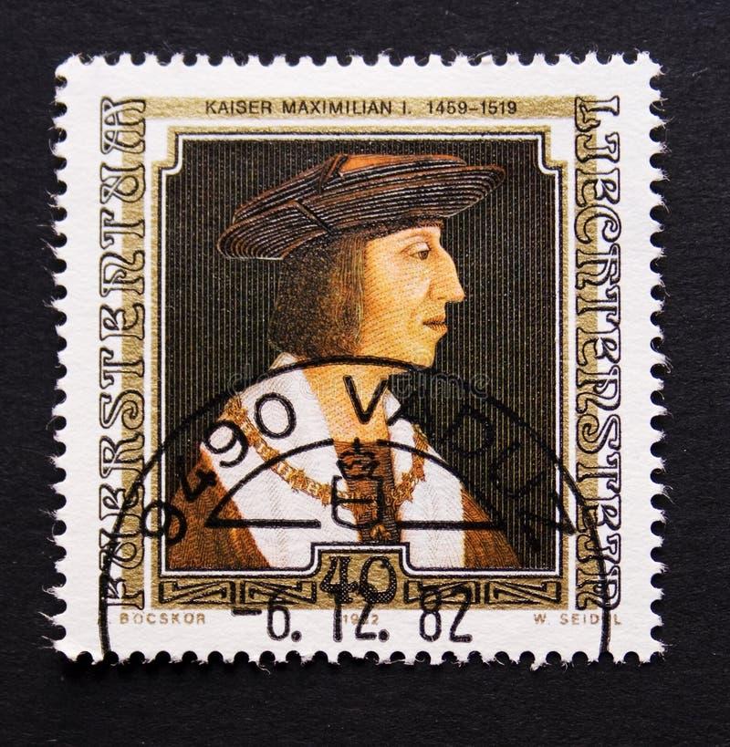 De postzegel van Liechtenstein stock foto