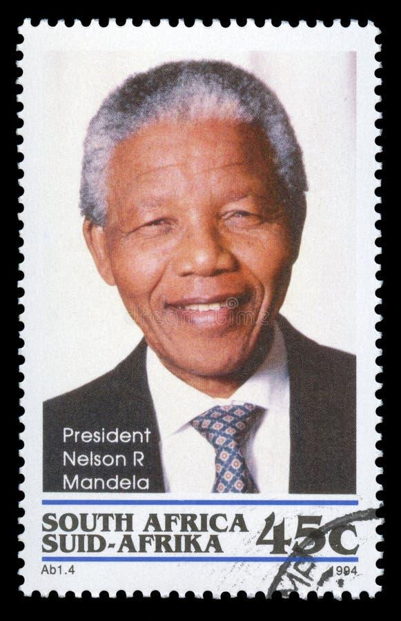 De postzegel van Nelson Mandela Zuid-Afrika royalty-vrije stock foto