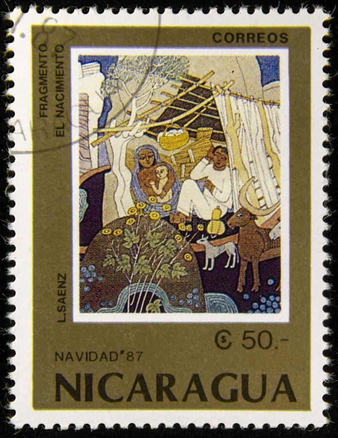 De postzegel van Nicaragua royalty-vrije stock afbeelding