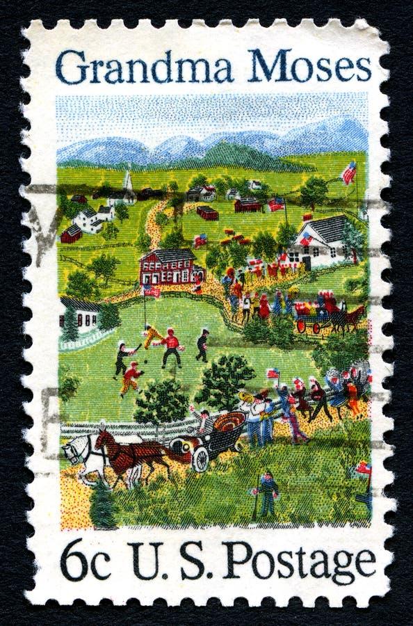 De Postzegel van omamozes de V.S. royalty-vrije stock fotografie